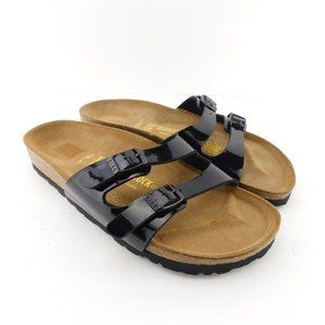 New Birkenstock Black Buckle Slide Sandal 6US/37EU
